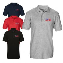 Red Arrows RAF Logo Display Team  Licenced Embroidered Polo T-shirt